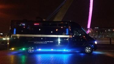Newcastle party bus hire covering Sunderland, Ashington, and Northumberland.