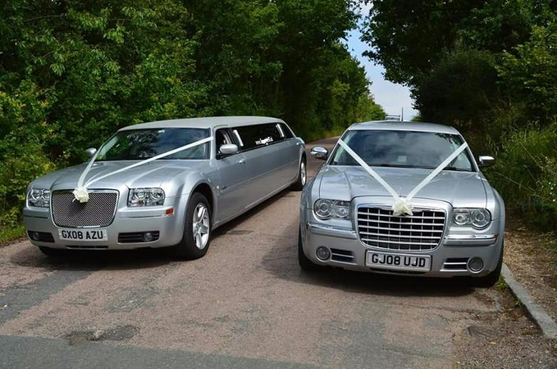 wedding car and limousine hire north east. Matching Chryslers for your special day